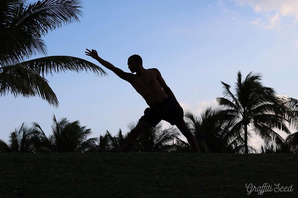 _reduce bubble in shorts_ _Skylight Yoga_ trikonasana set-up with jnan mudra south pointe park.jpg