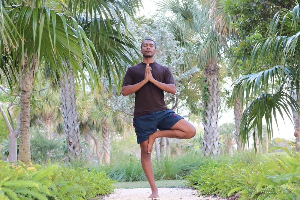 vriksasana with anjali mudra _Skylight Yoga_ south pointe park.jpg