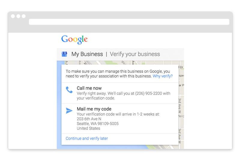 Google My Business Verification Call Me Now