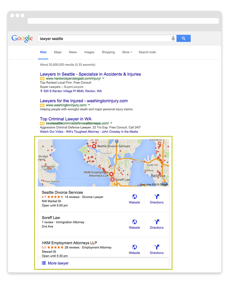 How to Get on Google Maps lawyer seattle