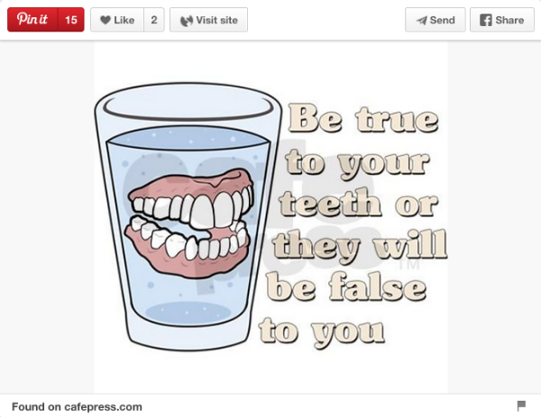pinterest dentist meme