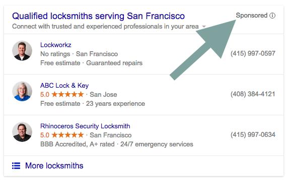 Paid Local Snack Pack San Francisco Locksmith