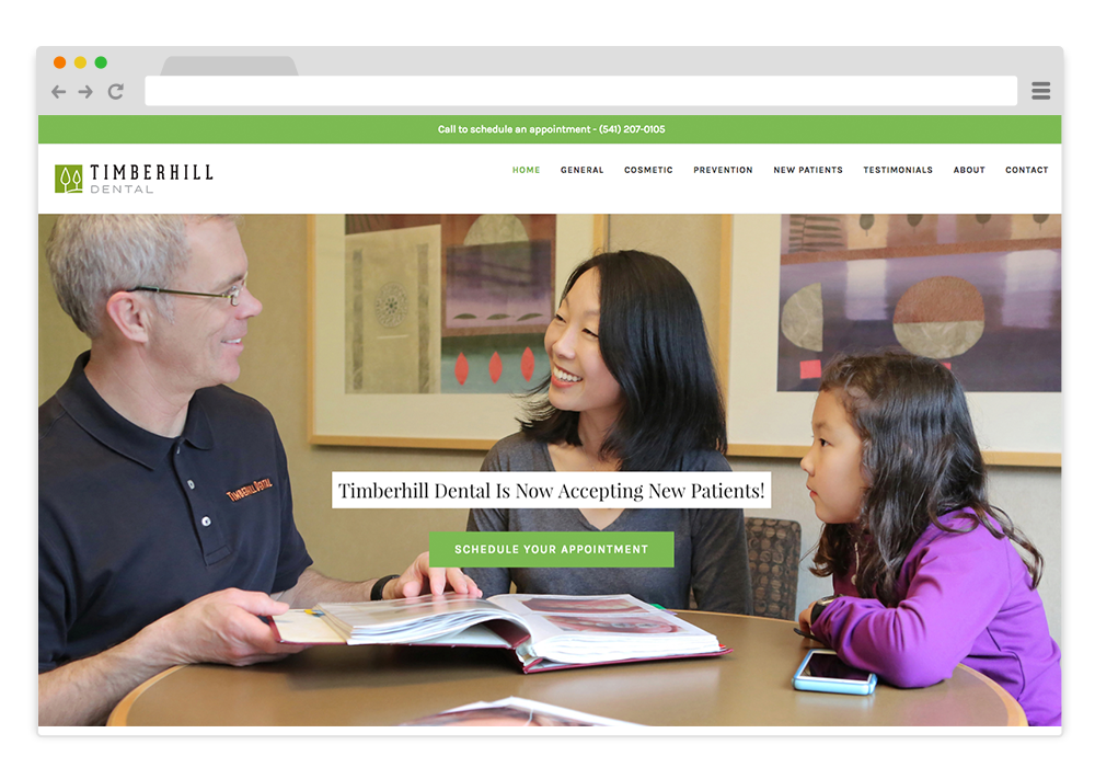 Small Business Website Portland OR Timberhill Dental