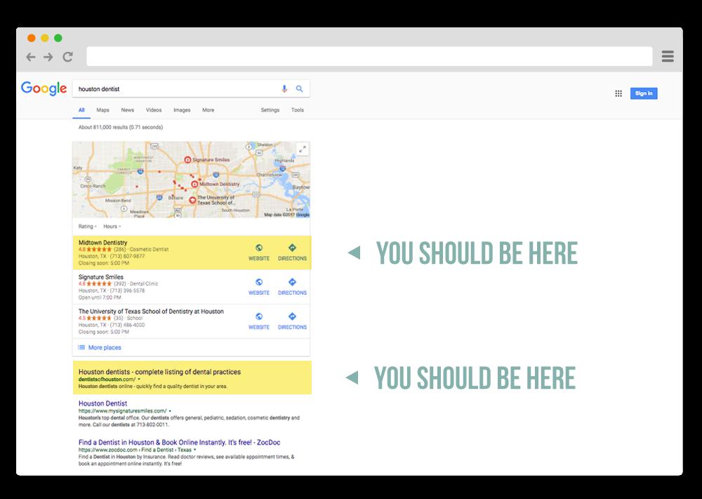 houston dental search engine optimization