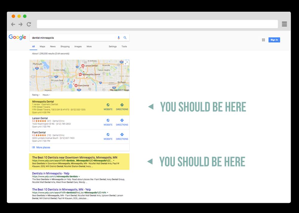 minneapolis dental search engine optimization