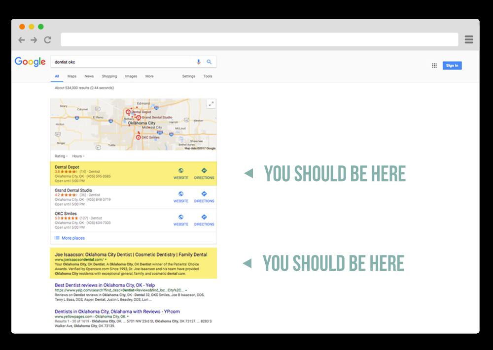 eugene dental search engine optimization