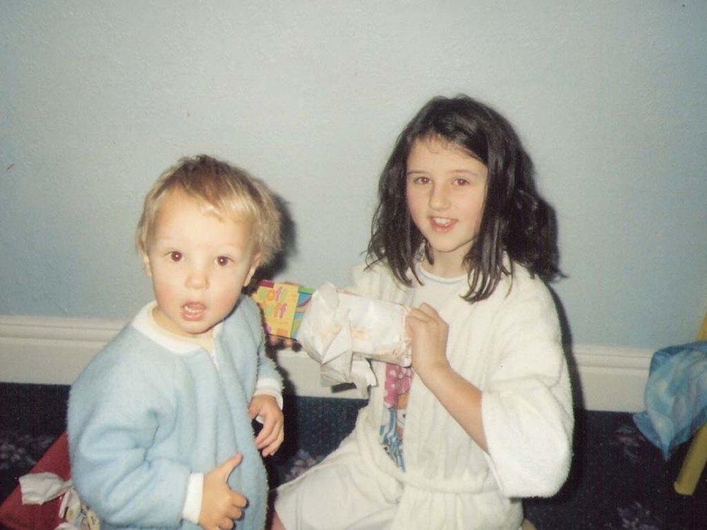 Me, aged 11, with my brother on his first birthday