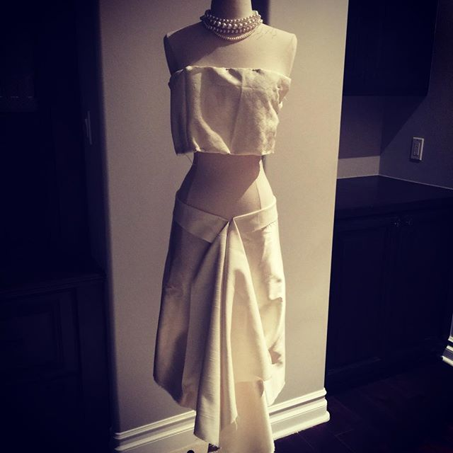 My brilliant and talented daughter @miahkidd left this manikin in my room to show me what she was working on all day. At first I was startled because I thought someone was standing there, but once my heart stopped racing I couldn't believe my eyes! This kid knows what she's doing! #KidsGotSkills #Fashion #Design #ShesOnly13