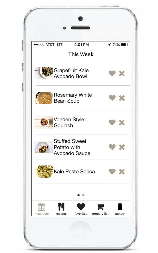 Meal Plan in App