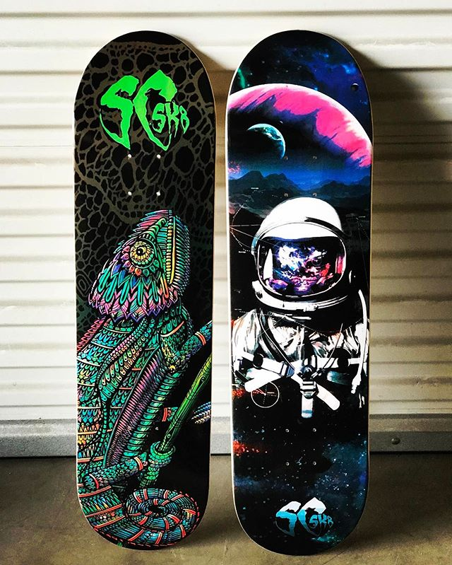 Grab yours @ SCSK8.COM 🦎🚀 #scsk8 #skateboard #skateboarding #losangeles #skateeveryday #skateeverydamnday #skateordie #skatecrunch #wildlife #astronaut #space #universe #gravity #california #freeshipping