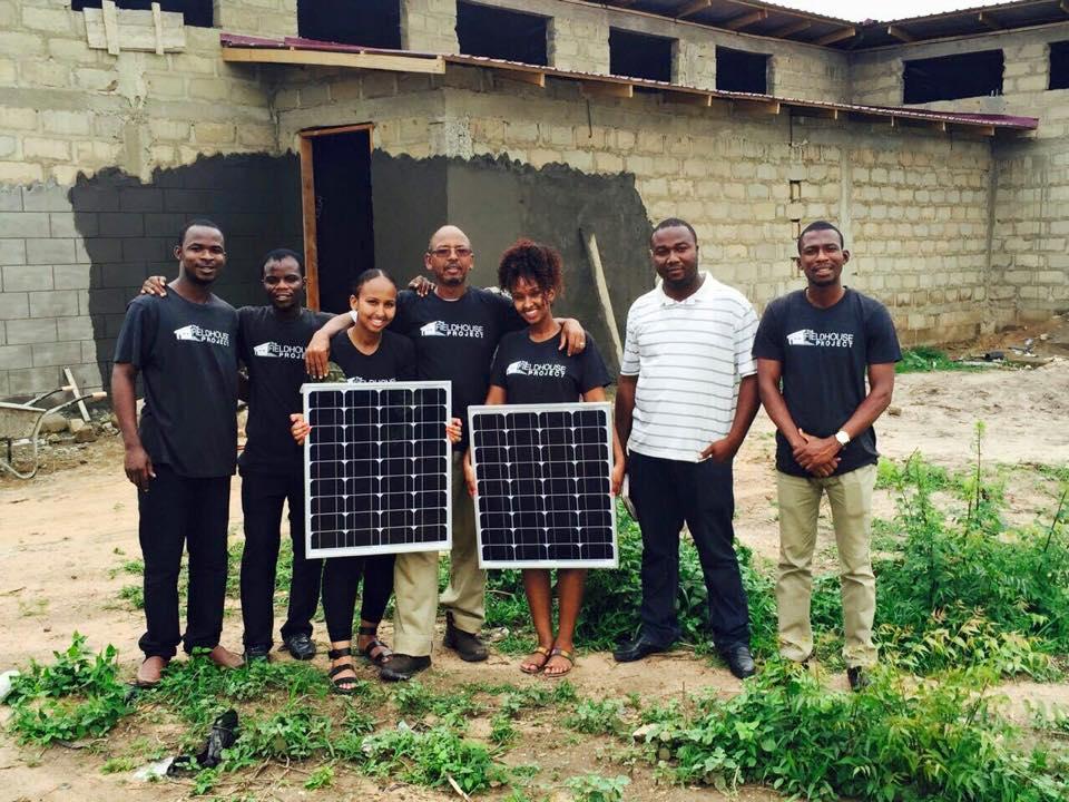 From left: Eric (Cheerful Hearts), Emmanuel (Teacher in Nyanyano), Kaha Arte, Max Arte, Kafiya Arte (The Fieldhouse Project), Tahir (Shield and Shelter Construction), Freeman (Cheerful Hearts).