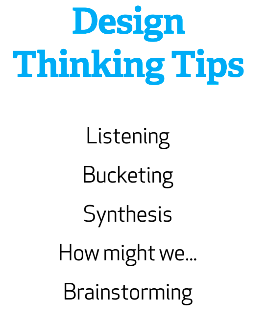 Design Thinking Tips