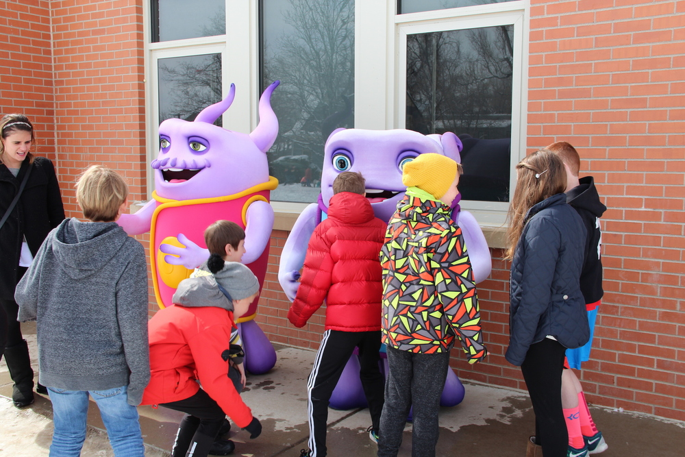 HOME characters at local Boulder school