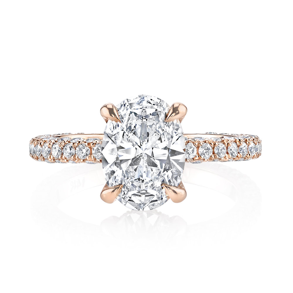 Custom 1.52ct Oval Rose Gold Engagement Ring