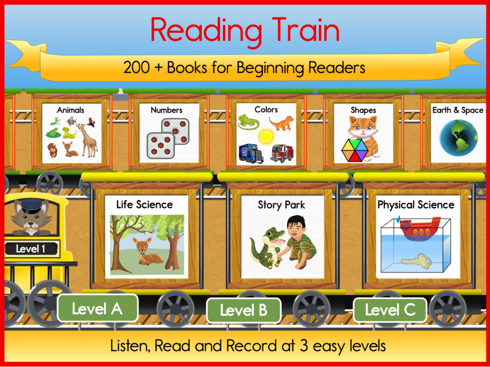 DOWNLOAD Reading Train Full STEAM Ahead on the Apple App Store       or DOWNLOAD on the Google Play store