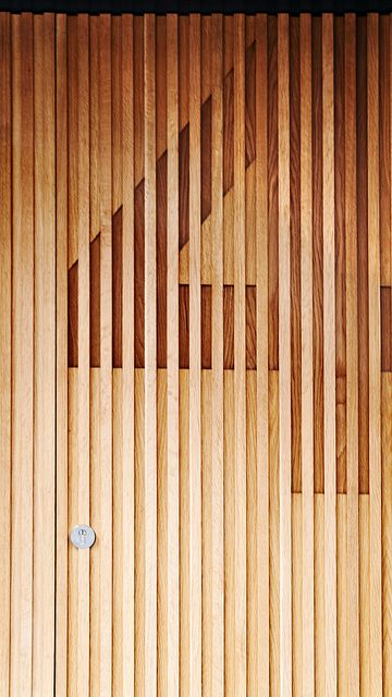 Modern Wood Slat Wall