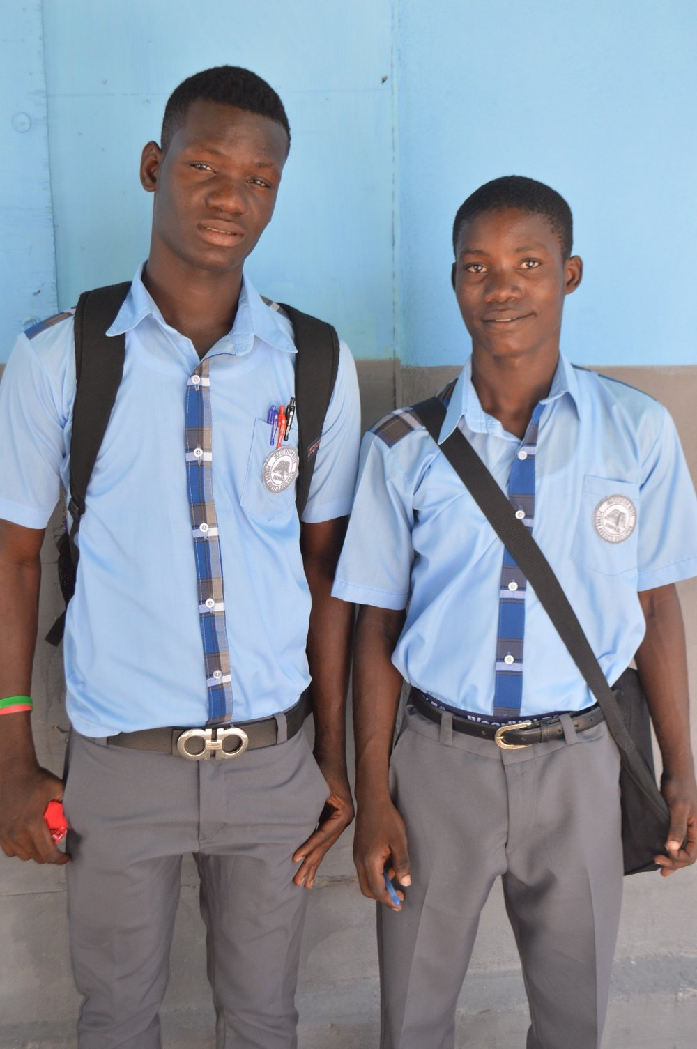 These two handsome young men started school at IMPAD this morning, too.  We are thankful for the way God provides for everyone associated with Haiti Awake.