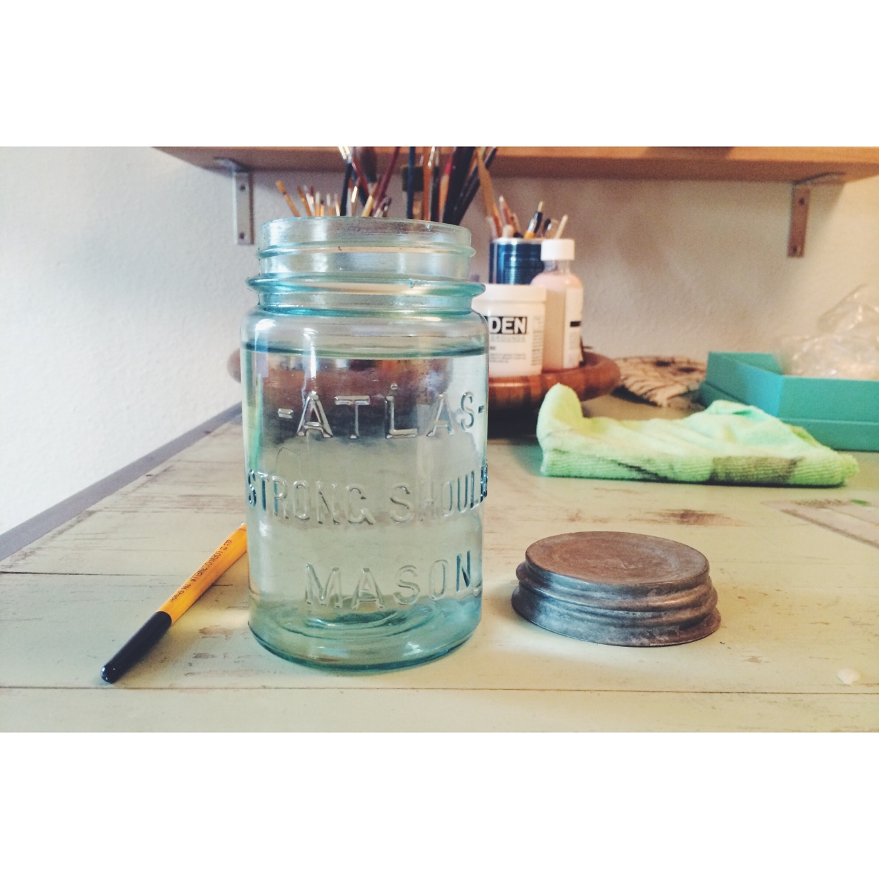 vintage mason jars for water