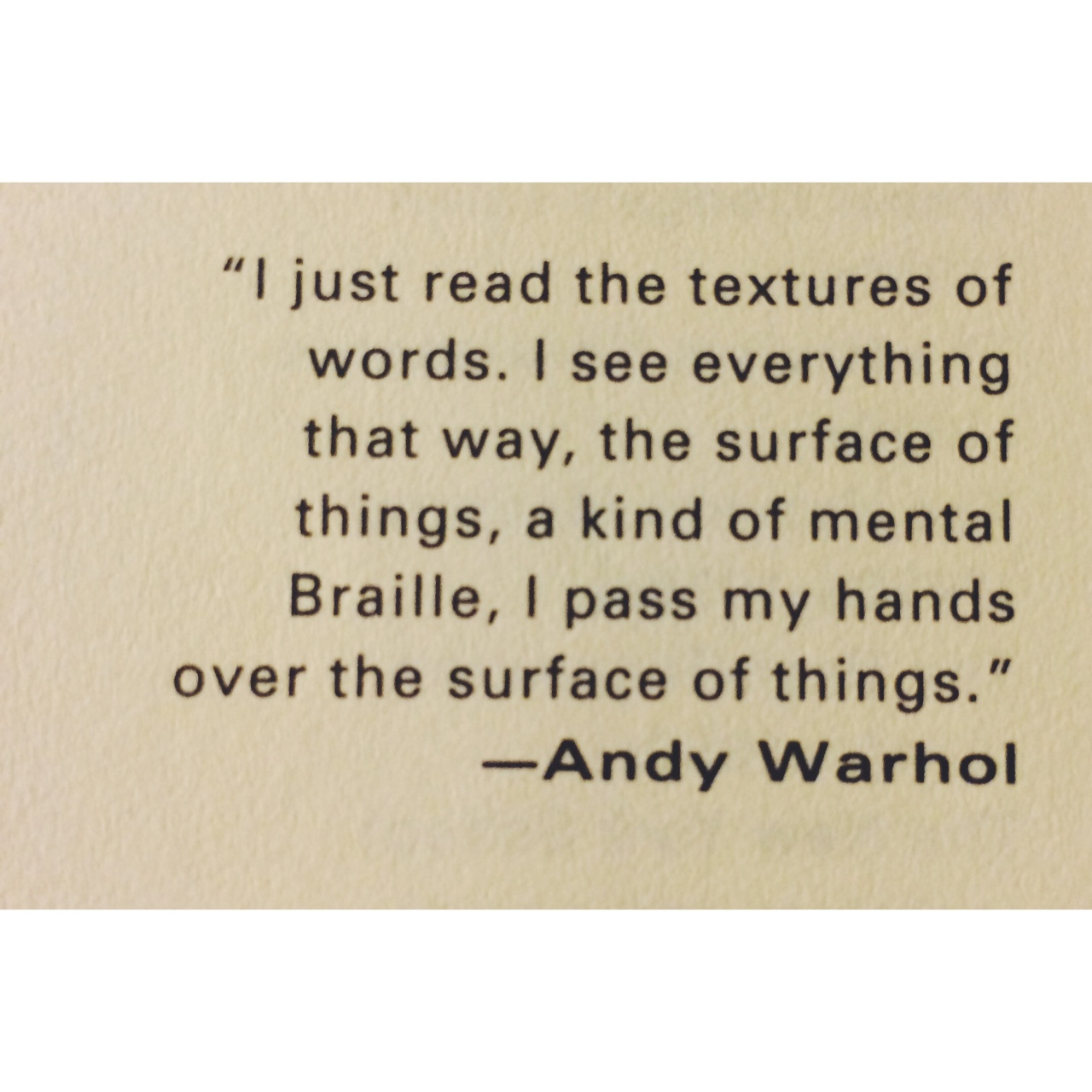 quote by warhol
