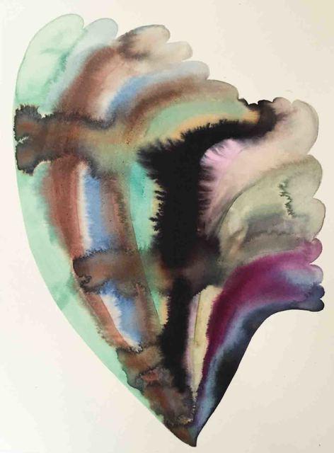 LOURDES SANCHEZ //Merengue 1, 2015. Ink on silk //19× 14 in.