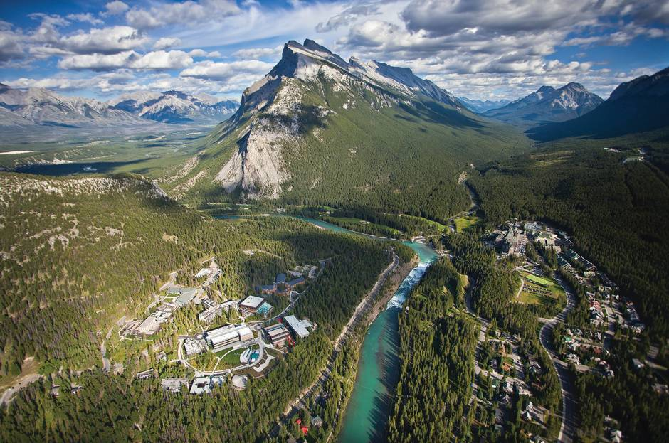 banff centre + mountains - holey moley! -  Source