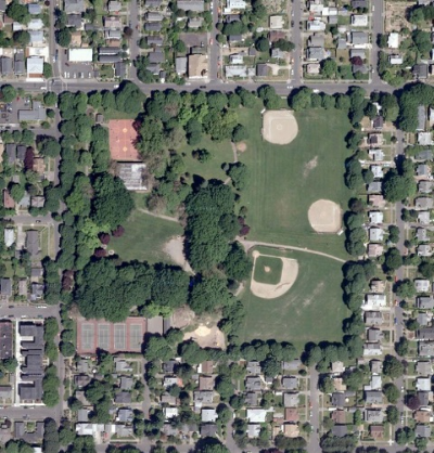 Irving Park aerial
