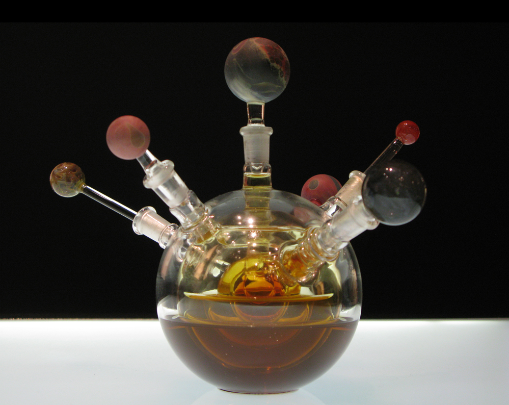 Copernican System, No. 1 (2009)    8x8x8 inches, Borosilicate glass