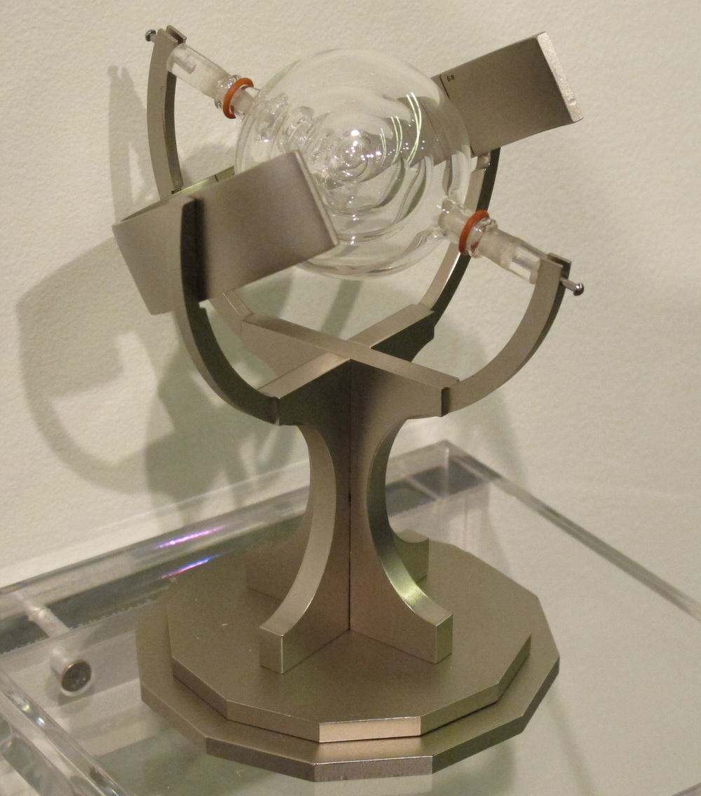 Sundial (Midnight in the Anthropocene)  (2011), 4x4x6 inches, aluminum and borosilicate glass