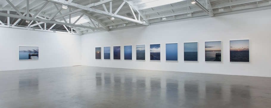 "Installation view of "" Twelve Miles to the Horizon"""