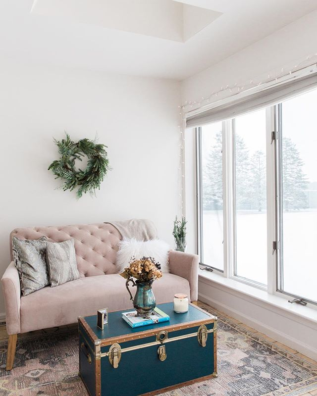 The prettiest (and brightest) room in our home today because of the snow. ✨ #itsthelittlethings