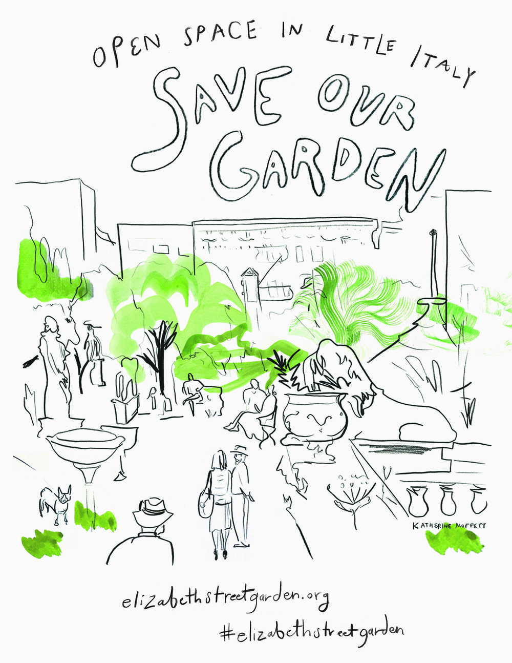 Save the Elizabeth Street Garden - You are invited to display this card in your shop window or instagram!