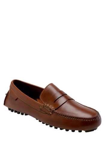 Cole Haan: Brown 'Air Grant' Driving Loafer $168