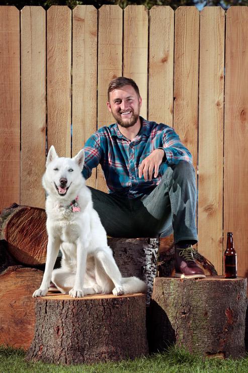 aaron marineau photography lumberjack dog portrait