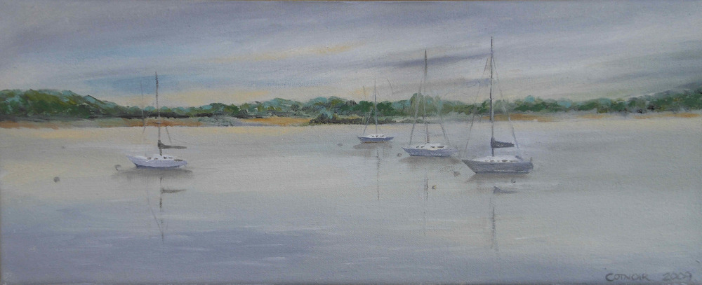 View from the Foot of Main - 8x20, oil on canvas.jpg