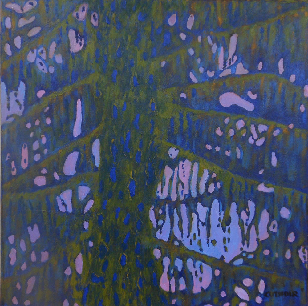 Blue Tree in Abstract