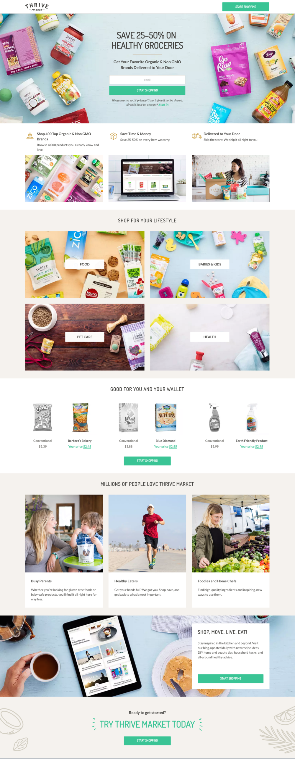 Thrive Market - Homepage