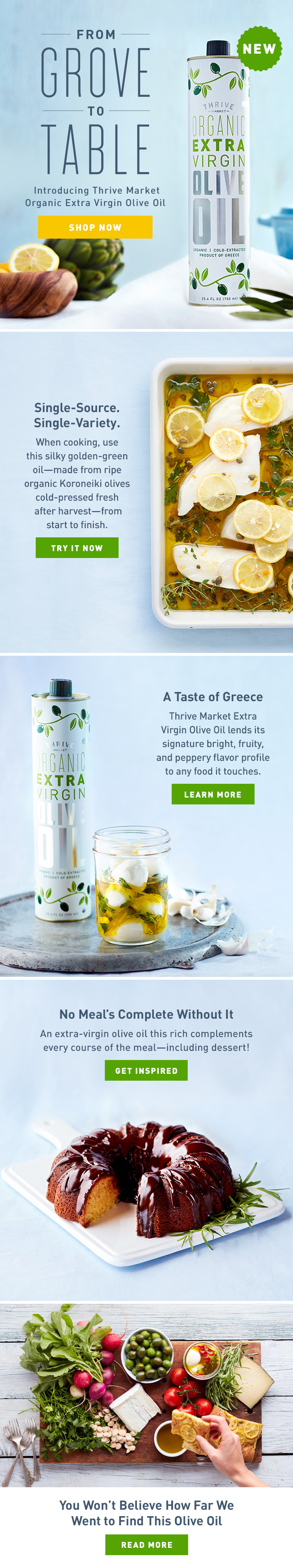 Thrive Market - Private Label Olive Oil
