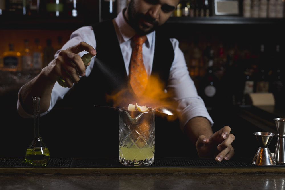 Cocktails on fire!