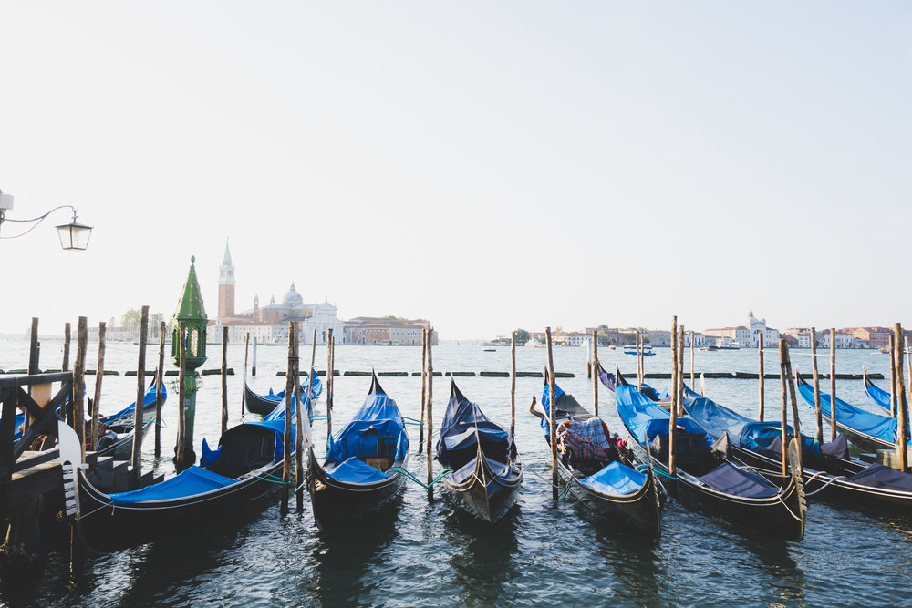 Gondolas on Grand Canal - Venice