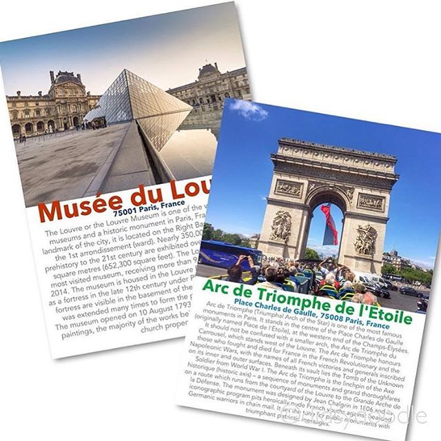 Looking for a cool way to get your travel pics into your Project Life album? @plfordidsy used LetterGlow to create these custom travel cards to document a recent trip to Paris. Great idea! - Made with LetterGlow. #letterglow #projectlifeapp #digitalprojectlife #graphicdesign #designfreedom #creativity