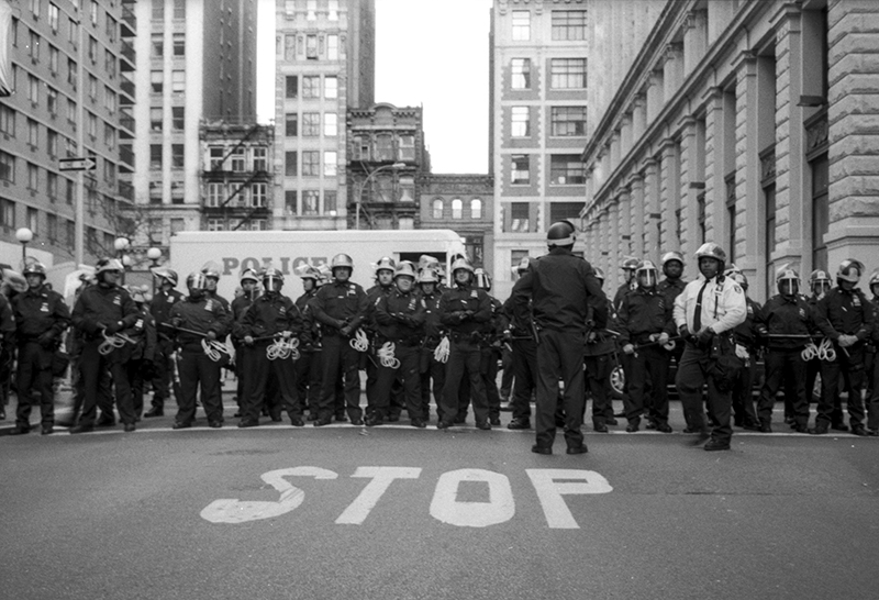 STOP THE VIOLENCE - ANTI-WAR PROTEST, NYC - 2003