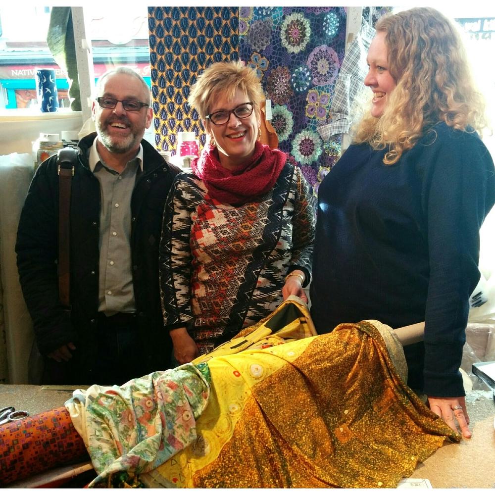 Inside Ditto Fabric Store in Brighton England