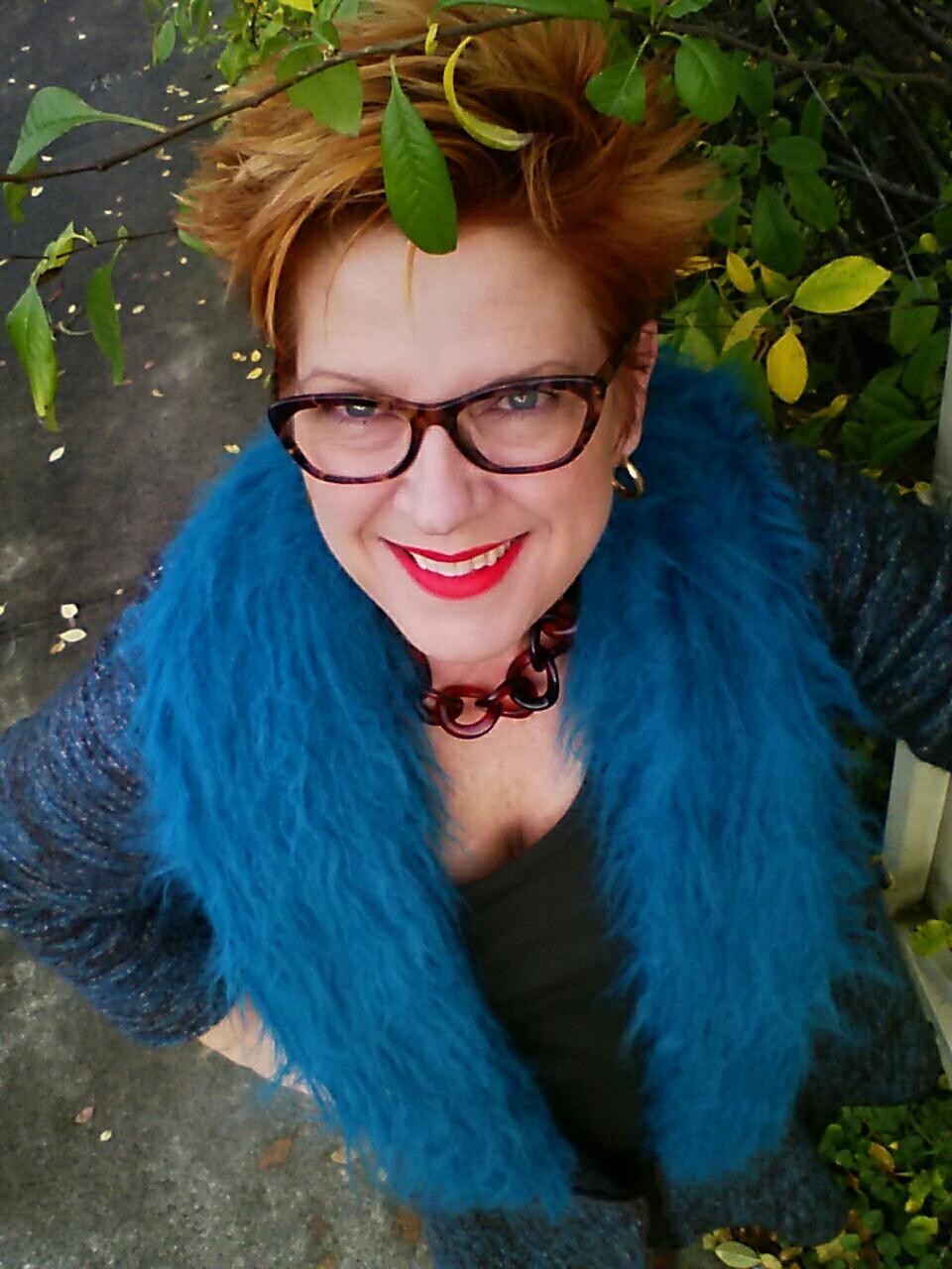 Faux fur at it's bluest