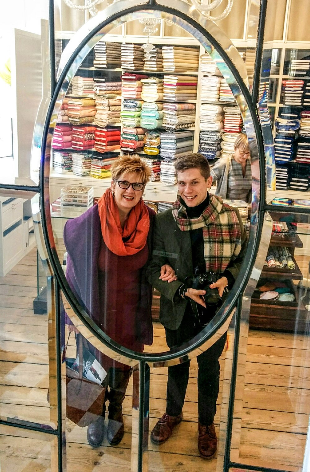 Fabulous Fabric was purchased here! With @SewingDude Thomas Renwart in Ghent