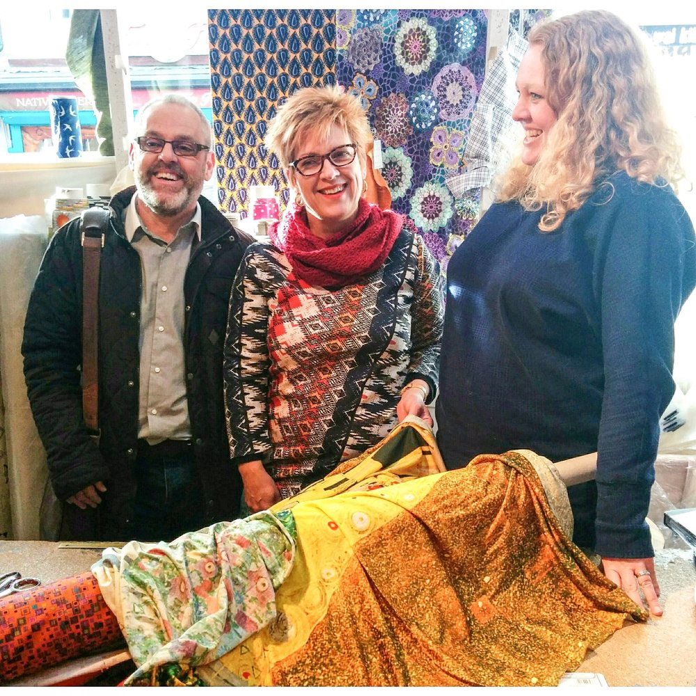 Oh this Fabric is still loved! With Darren @deedeenick & Wendy Ward @thatwendyward at @dittofabrics