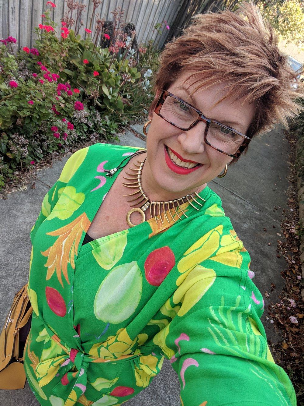 Wearing a Tara Whalley Design