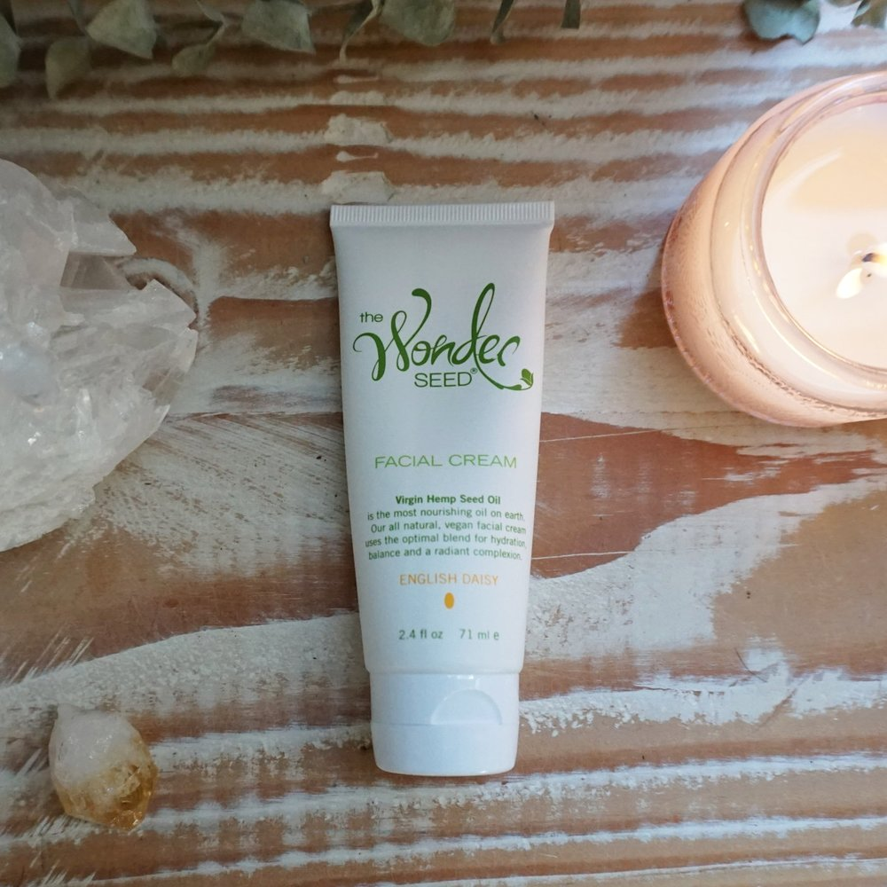 Moisturizer - After cleansing, I follow with The Wonder Seed Facial Creamon face, jawline, and neck. I let it absorb into the skin for a couple minutes.