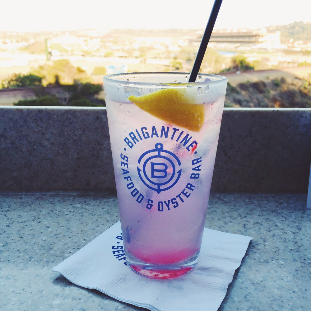 Drinks at the Brigantine overlooking Del Mar racetrack.