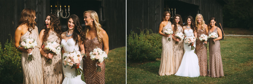 Me & Mr. Jones Wedding, Black Tie Wedding, Bridesmaids wearing Adrianna Papell Beaded Dresses, Embellished Bridesmaids Dresses, Black Tie Wedding, Blush Bridesmaids