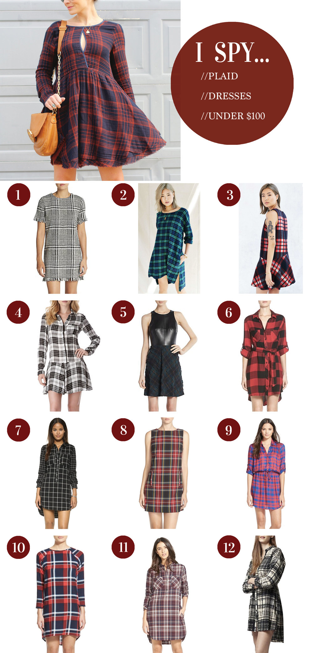 Plaid Dresses Under $100